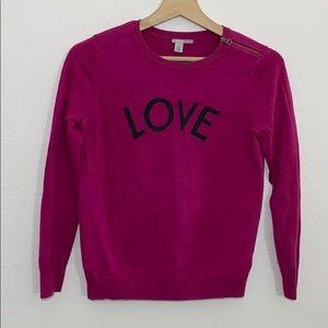 Halogen love purple sweater-S